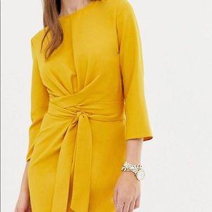 ASOS Wrap Around Minj Tall Dress Size 16